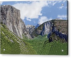 Yosemite Valley Showing El Capitan Half Dome And The Three Brothers Formation Acrylic Print