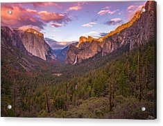 Yosemite Valley Spring Sunset Acrylic Print