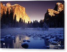 Yosemite Valley Sunset Acrylic Print by Michael Howell - Printscapes