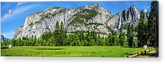 Yosemite West Valley Meadow Panorama #2 Acrylic Print