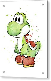 Yoshi Watercolor Acrylic Print by Olga Shvartsur