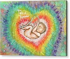 You Are A Rainbow Acrylic Print