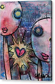 You Are Always In My Heart  Acrylic Print by Laurie Maves ART