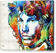 You Are Free - Jim Morrison Tribute Acrylic Print by Sharon Cummings