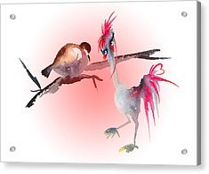 You Are Just My Type Acrylic Print by Miki De Goodaboom
