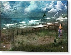 You Are So Far Away Acrylic Print by Rhonda Strickland