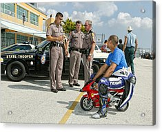 You Are Under Arrest !! Acrylic Print by Alfred Forns