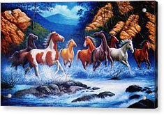 You Can Lead A Horse To Water But If You Can Get Him To Float On His Back  Acrylic Print by Yuki Othsuka