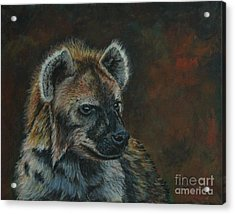 You Don't See Me Laughing......hyena Acrylic Print