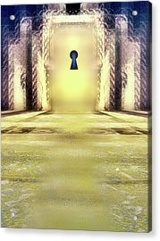 You Hold The Key Acrylic Print by Another Dimension Art