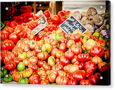 Acrylic Print featuring the photograph You Say Tomato by Jason Smith