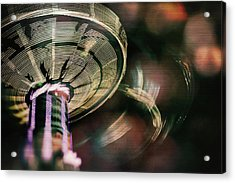 You Spin Me Right Round Acrylic Print by Nicole Frischlich