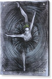 Acrylic Print featuring the drawing You Think You Can Dance by Anna  Duyunova