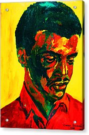 Young African Man Acrylic Print by Carole Spandau