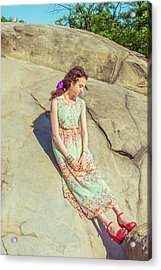 Young American Woman Summer Fashion In New York Acrylic Print
