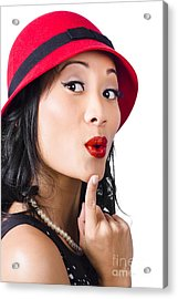 Young Asian Girl With Surprised Expression  Acrylic Print by Jorgo Photography - Wall Art Gallery