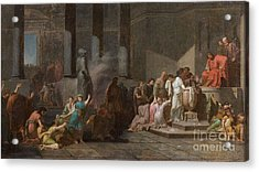 Young Athenian And Athenian Casting Lots To Be Delivered To The Minotaur Acrylic Print by MotionAge Designs