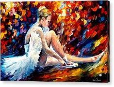 Young Ballerina Acrylic Print by Leonid Afremov