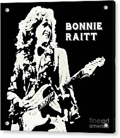 Young Bonnie Raitt Poster Acrylic Print by John Malone