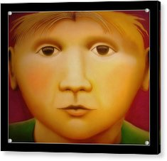 Young Boy - In Large Scale Acrylic Print