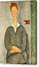 Young Boy With Red Hair Acrylic Print by Amedeo Modigliani