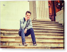 Acrylic Print featuring the photograph Young College Student 15042515 by Alexander Image
