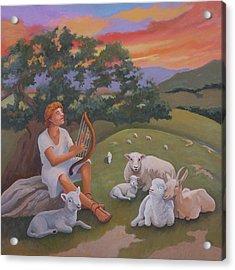 Young David As A Shepherd Acrylic Print