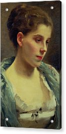 Young Dreamer Acrylic Print by Gustave Jacquet