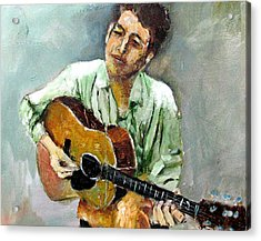 Young Dylan 1 Acrylic Print by Udi Peled