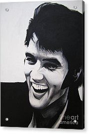 Young Elvis Acrylic Print by Ashley Price