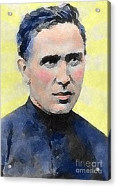 Young Father Damien Acrylic Print by James Temple