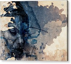 Acrylic Print featuring the mixed media Young Gifted And Black - Nina Simone  by Paul Lovering