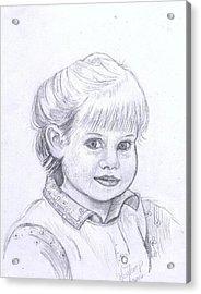 Young Girl Acrylic Print by Francine Heykoop