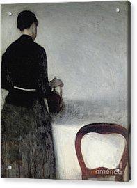 Young Girl Pouring Tea  Acrylic Print