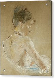 Young Girl With Naked Shoulders Acrylic Print