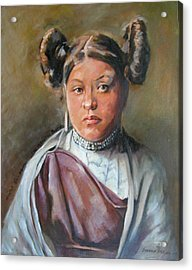 Young Hopi Girl Acrylic Print by Synnove Pettersen