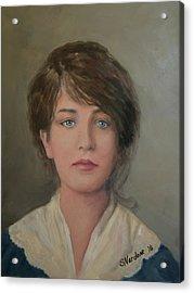 Young Irish Woman On Eliis Island Acrylic Print