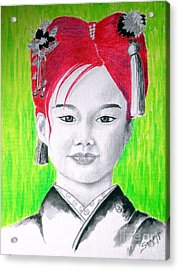 Young Japanese Beauty -- The Original -- Portrait Of Japanese Girl Acrylic Print