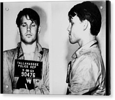 Young Jim Morrison Mug Shot 1963 Photo Acrylic Print