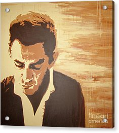 Young Johnny Cash Acrylic Print