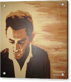 Young Johnny Cash Acrylic Print by Ashley Price