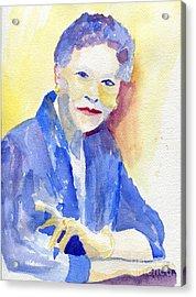 Young Lady Acrylic Print by Joe Hagarty