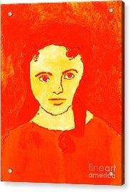 Young Liz Taylor 1 Acrylic Print by Richard W Linford