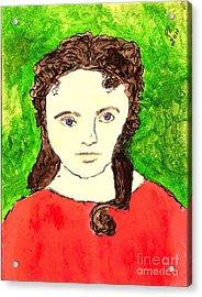 Young Liz Taylor 2 Acrylic Print by Richard W Linford