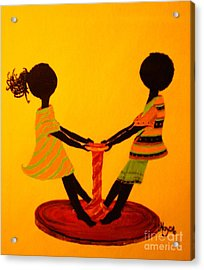 Young Love-twirling Acrylic Print