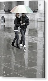 Young Love Under The Weather Acrylic Print by Jez C Self