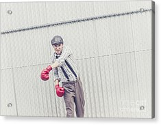Young Male Boxer Throwing A Offensive Jab Acrylic Print by Jorgo Photography - Wall Art Gallery