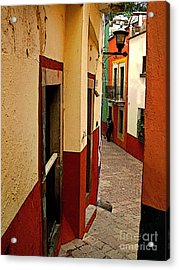 Young Man In The Alley Acrylic Print by Mexicolors Art Photography