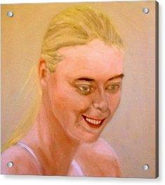 Young Maria Acrylic Print by Peter Gartner