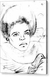 Young Micheal Jackson  Acrylic Print by HPrince De Artist